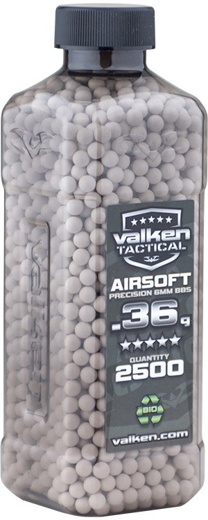 Valken Airsoft BB 36g BIO - 2500 Count