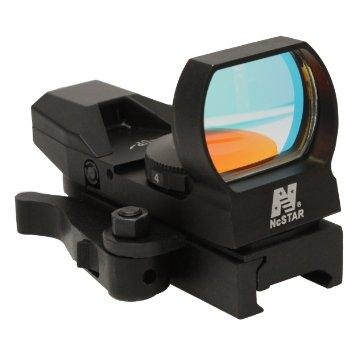 NCStar DX4BQ Rogue Red Dot 4 Reticle Reflex Sight Optic BLACK QR Mount