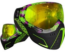 HK Army KLR Paintball Graphic Goggles - Neon Blocks