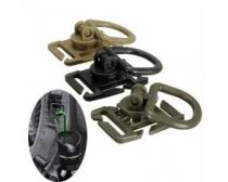 Crosshairs 360 Degree Rotation D-Ring Buckle