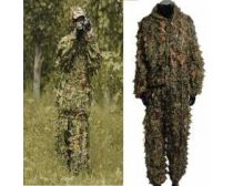 Crosshairs Woodland Camo 3d Ghillie Suit Kit - Leaf