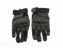 Crosshairs Tactical Carbon Fiber Full Finger Gloves - Black