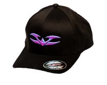 Valken Flex Fit Hat - V Logo Black/Neon Purple