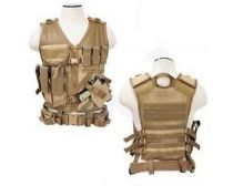 NcSTAR TACTICAL / Cross Draw VEST/Tan Size SM
