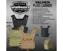 Valken Plate Carrier II - Black, Olive, Tan