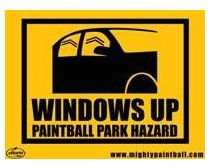 Safety Sign - Windows Up